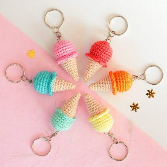 Hey, I found this really awesome Etsy listing at https://www.etsy.com/listing/289117611/ice-cream-keychain-crochet-keychain