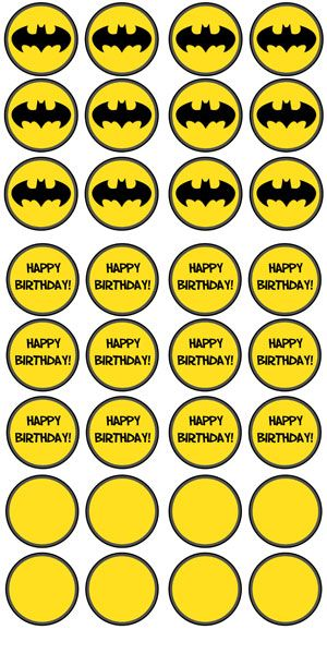 Free Printable Batman Cupcake Toppers - Printable Treats