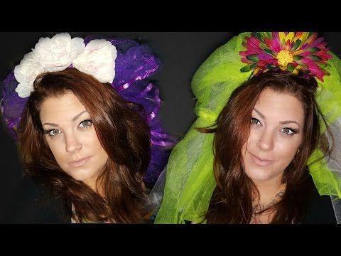 DIY 3$ Veil for Costume | $ store halloween (2 versions) - YouTube