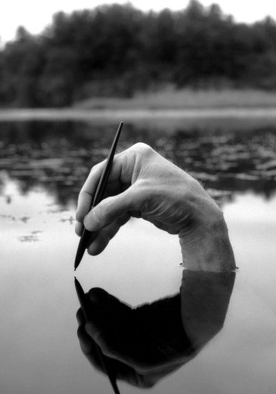 Ummm, about that disembodied hand ready to write on water...?