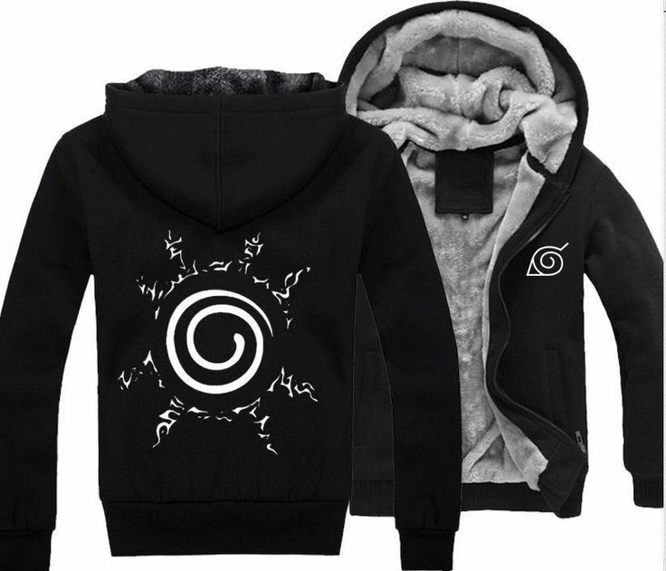 New Anime Naruto Clothing Hooded Sweatshirt Cosplay Hoodie Black