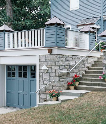 47 best 2 story garage images on pinterest flat roof for House built on top of garage