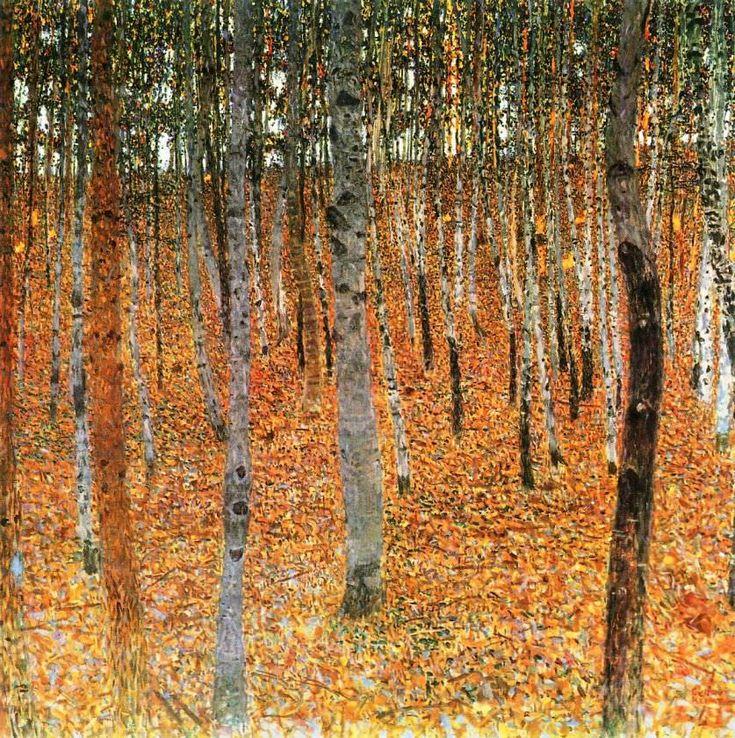 Birch Forest I, 1902 by Gustav Klimt
