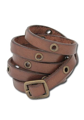 Armband Multistrap Bracelet, braun von Iron Fortress
