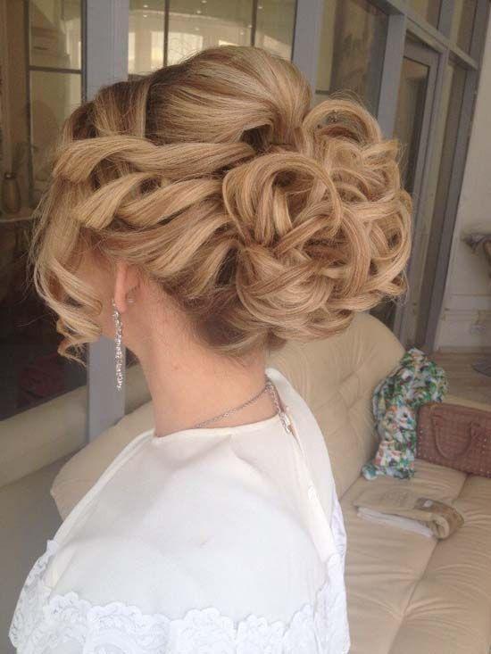 long wavy wedding updo hairstyle 2 via aleksandra prudnikov / http://www.himisspuff.com/beautiful-wedding-updo-hairstyles/9/