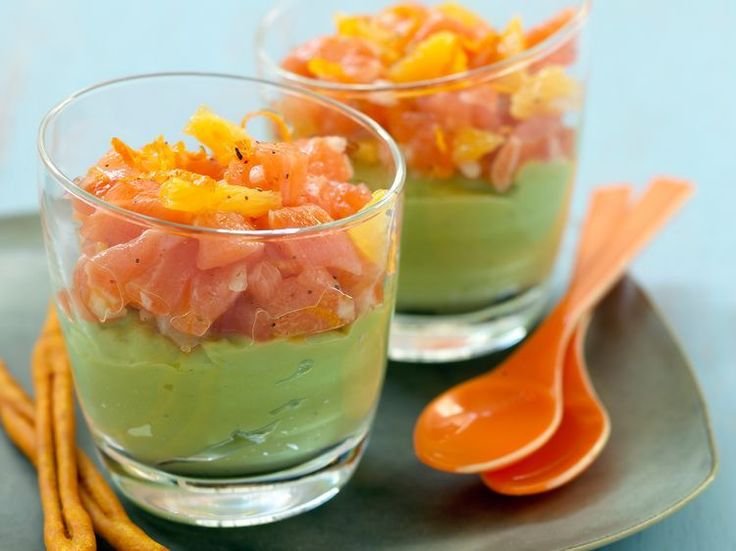 Verrine de guacamole au saumon