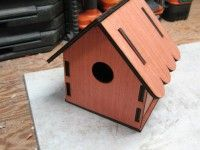 CNC Project: Slot Together Bird House made with the help of  Vectric's Aspire