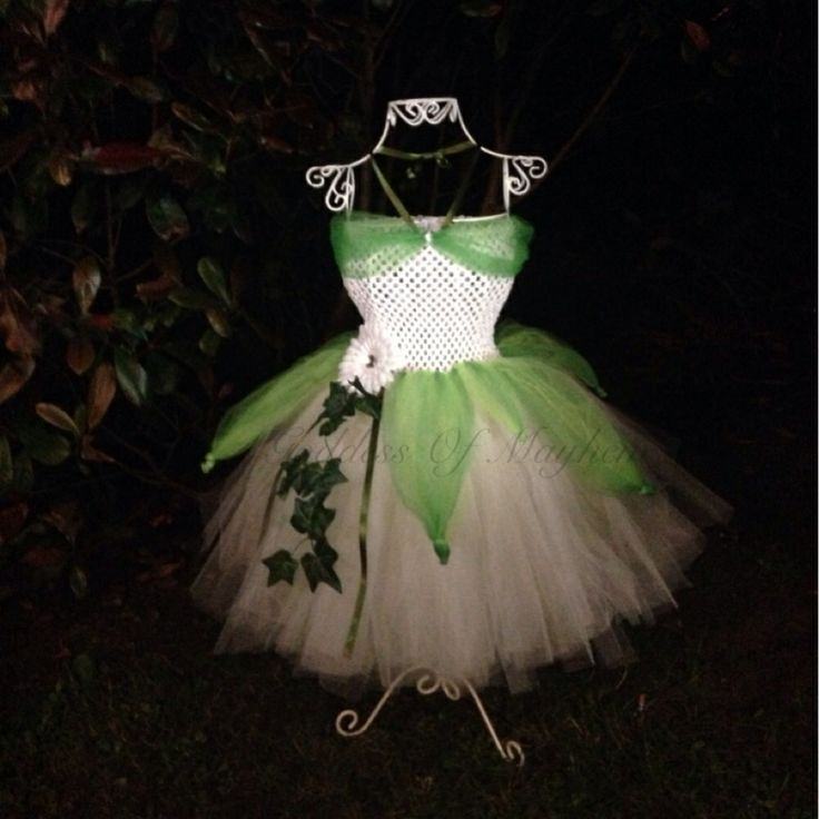 Princess and the frog inspired tutu dress
