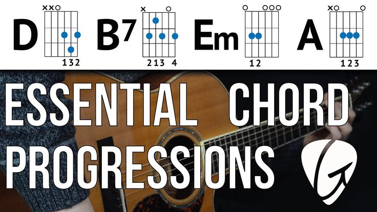 Chord Progression Practice - D B7 Em A - Swing and Jazz Style Easy Guitar Chords - YouTube