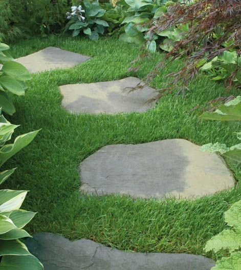 39 best walkway images on pinterest diy landscaping for Rock stepping stones landscaping