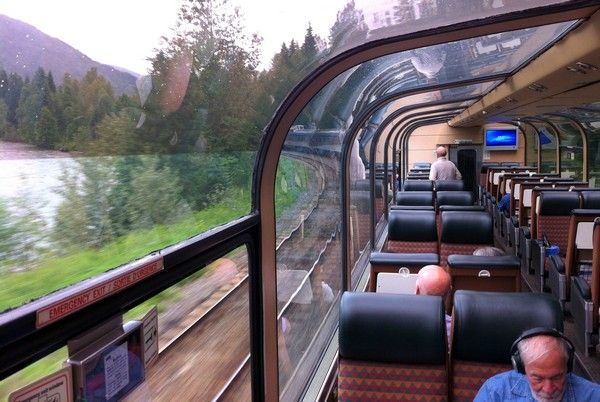 VIA Rail Vancouver to Jasper, Observation Car