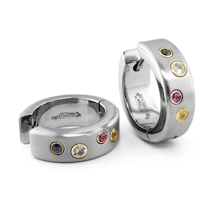 Incredible Rainbow Sapphire Titanium Earrings: Abby Hearing, Hopea Korut, Everyday Trends, Titanium Earrings, Beautiful Things, Wear Everyday