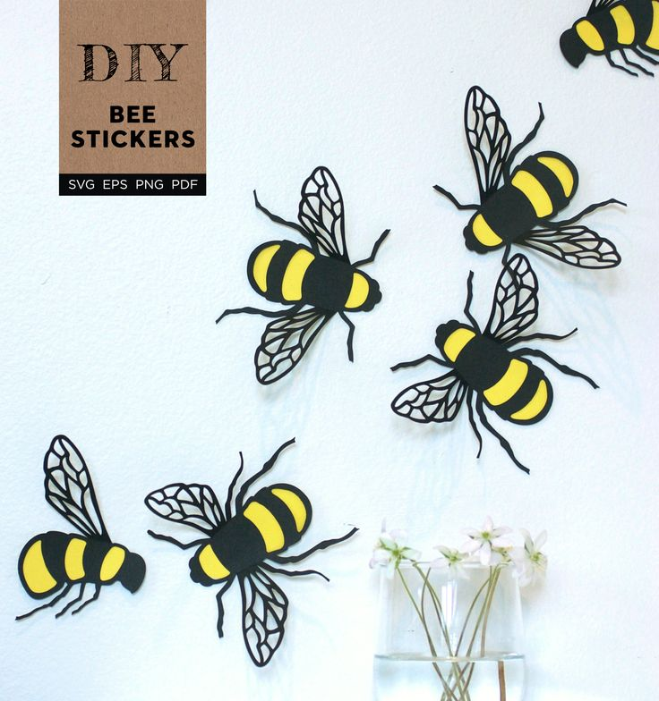 Bee Stickers SVG File » DIY Tutorials Of Unique Paper
