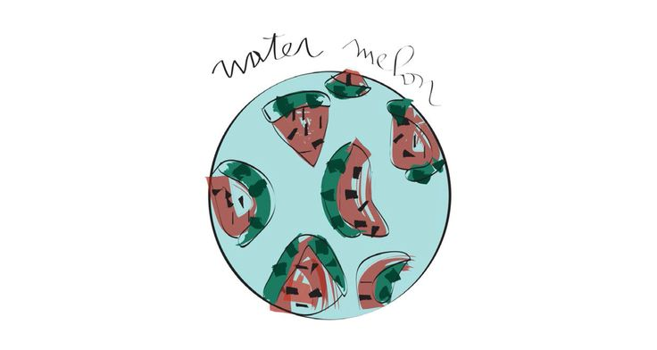 #illustration #MLC #watermelon  letiziamlc.tumblr.com