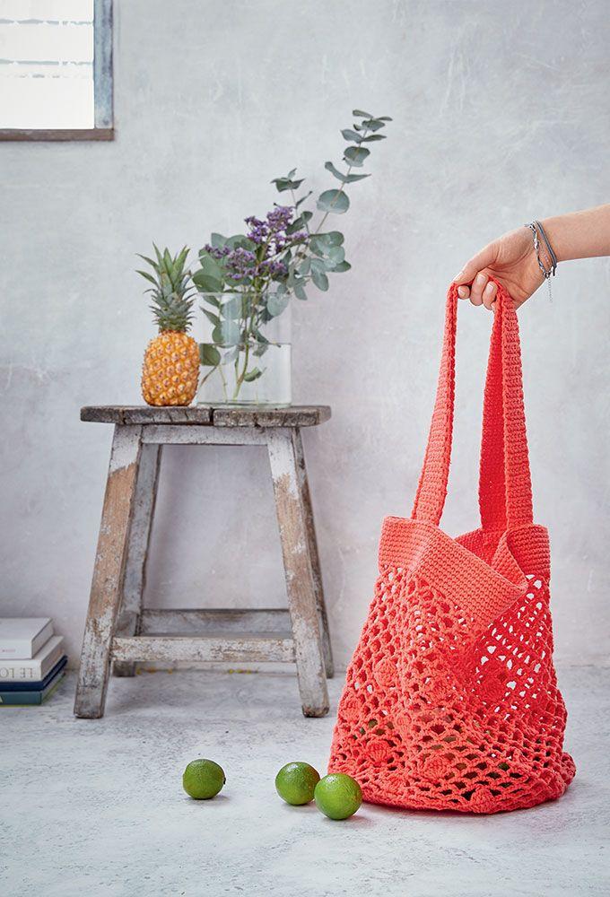 DIY sac filet au crochet réutilisable