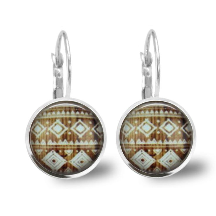 Chatterbox City - Aztec Lever Back Glass Cabochon Earrings, $10.00 (http://www.chatterboxcity.com.au/aztec-lever-back-glass-cabochon-earrings/)
