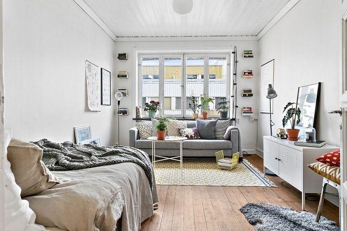 Scandinavian Bachelor Studio Apartment Diy Low Cost Student Apartment Decor Apartment Layout Apartment Decor