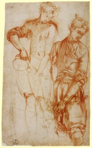 Study of a Girl Pouring from a Jug - Jacopo Pontormo