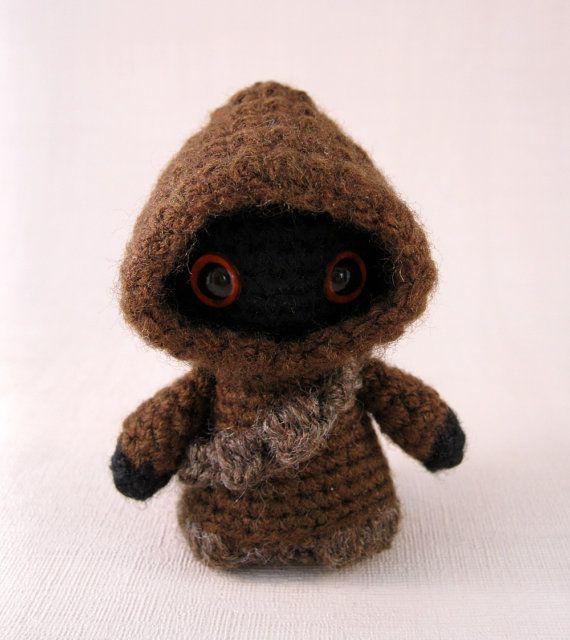 PDF of Jawa  Star Wars Mini Amigurumi Pattern by lucyravenscar, $3.50   Once again, If I could crochet!