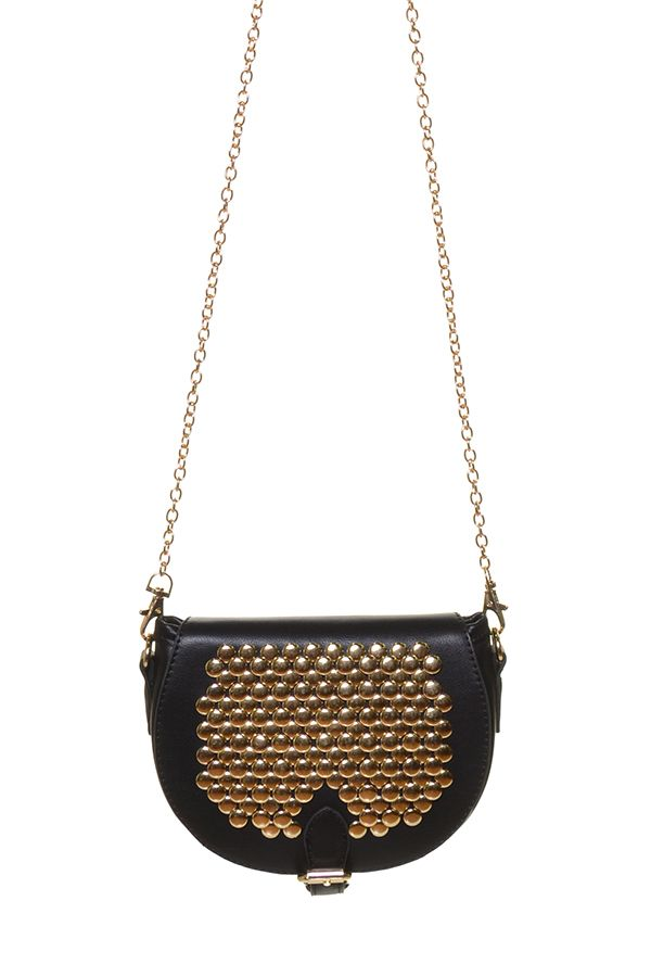 Harry and Zoe - Studded Saddle Handbag, $57.00 (http://www.harryandzoe.com/studded-saddle-handbag/)