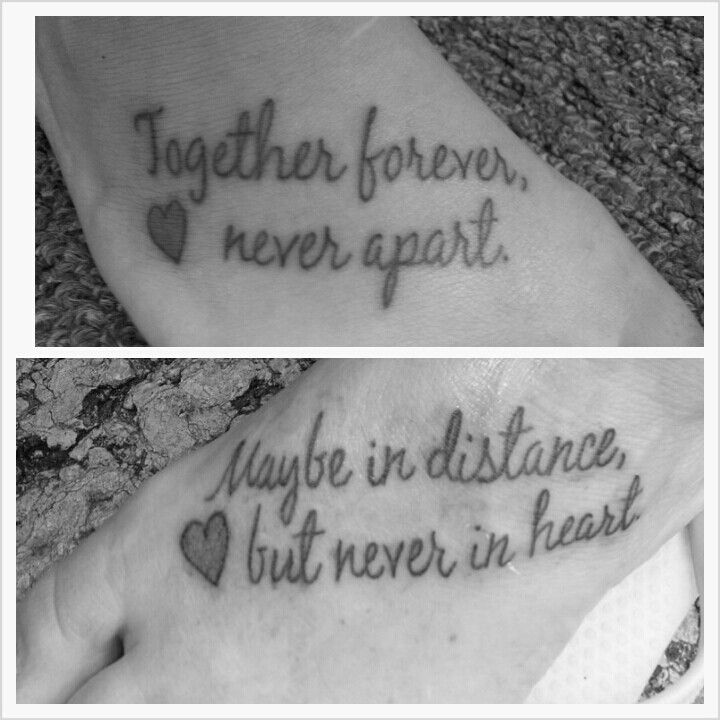 My Mother-daughter tattoo. Love <3