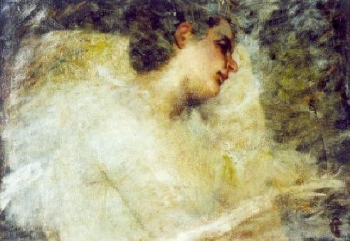 """Tranquillo Cremona (1837-1878)  """"Pensierosa"""" Vignola (Mo), Collezione privata"""