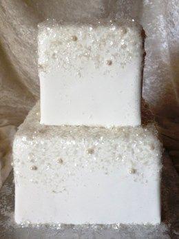 Edible Glitter Wedding Cake