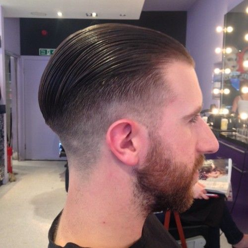 men's hair, short, fade, slick back