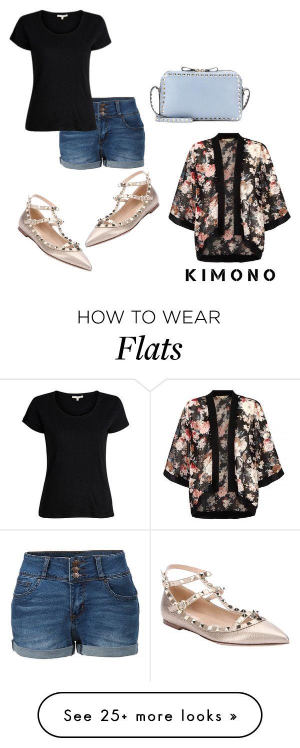 """Kimono Day for V!"" by adigoddess on Polyvore featuring Yumi, Valentino, LE3NO and kimonos"