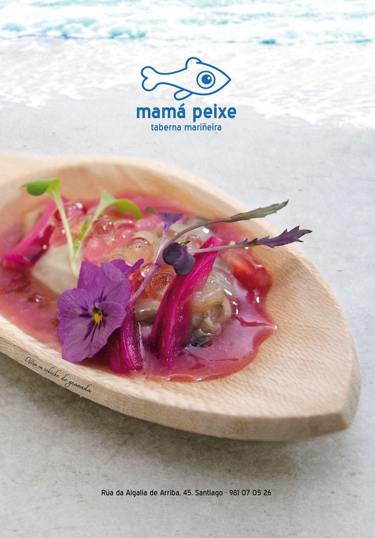 #food #seafood #sea #flower #tasty #woden #mirandapriestly #coralia #santiagodecompostela #galicia