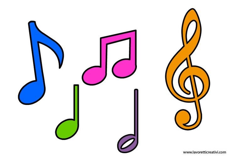 NOTE MUSICALI DA RITAGLIARE Sagome delle note musicali, ideali per creare decorazioni, addobbi e altro.