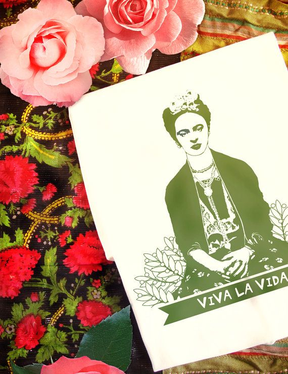 Frida Kahlo Organic t-shirt  Viva La Vida  Womens' by Kunda. #tshirts #organictshirts #fairtrade #organiccotton #etsy #etsygreekstreetteam #ethicalfashion #frida #fridakahlo #friduchita #mexico #EtsyGifts