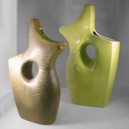 RED WING Vases with Cut-Through Hole # B 2316