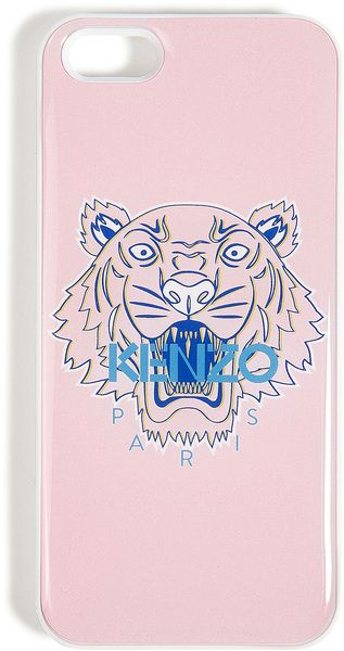 Kenzo Tiger Print Iphone Hard Case in Pink (tiger) | Lyst