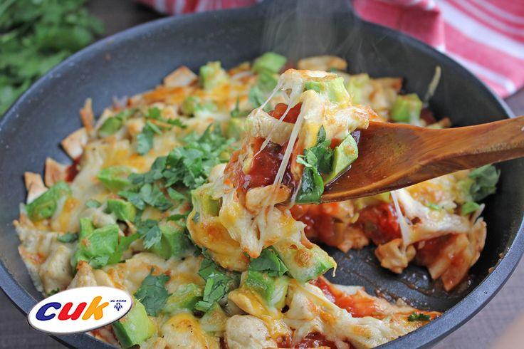 Receta de Enchilada de Pollo CUK en sartén