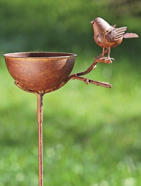 Vogeltränke zum Stecken, Rost, Loki