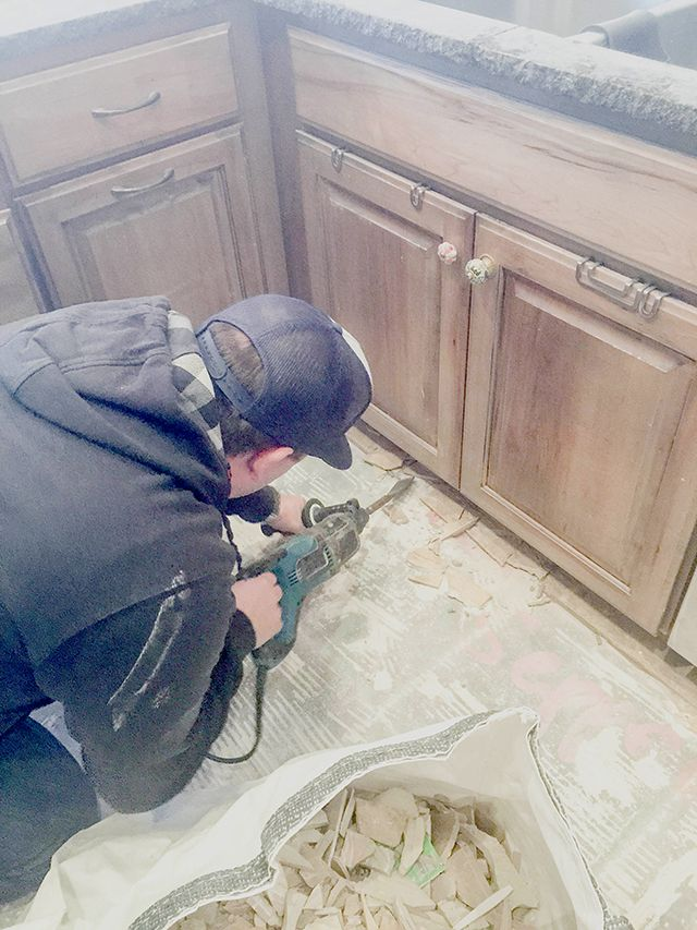 How To Remove Tile Flooring Yourself Bathroom Pinterest Tile Flooring Tips And Tricks And