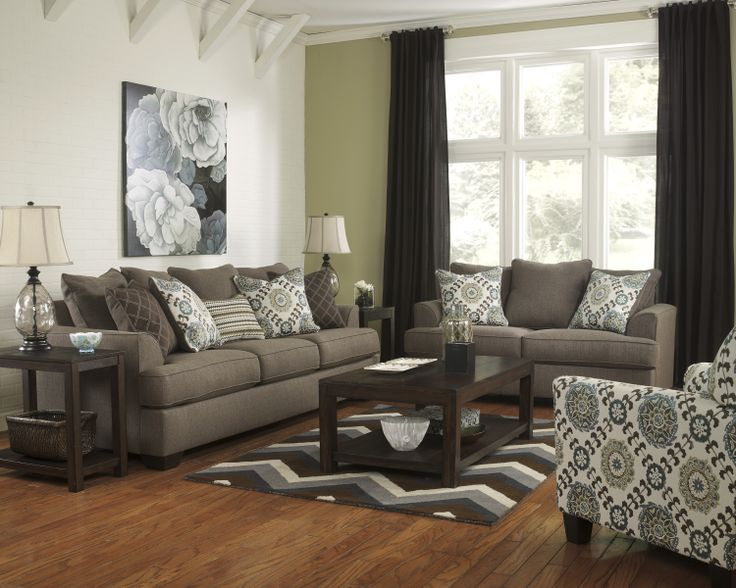 Shop for the Ashley Furniture Corley   Slate Sofa at Household Furniture    Your El Paso   Horizon City  TX Furniture   Mattress Store. 36 best Lovely Living Rooms images on Pinterest   Accent chairs