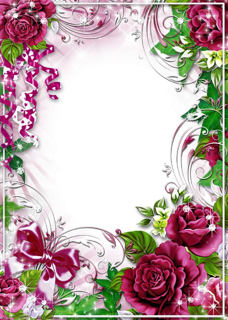 Flower-Photo-Frame-Burgundy-Roses