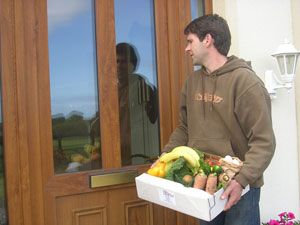 Delivery to your door - Reducing food miles, Minimal packaging - returnable boxes