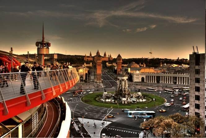 Pl Espana Desde Centro Arenas Barcelona Barcelona Terrazas Ciudades