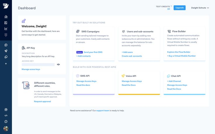 Mb dashboard page