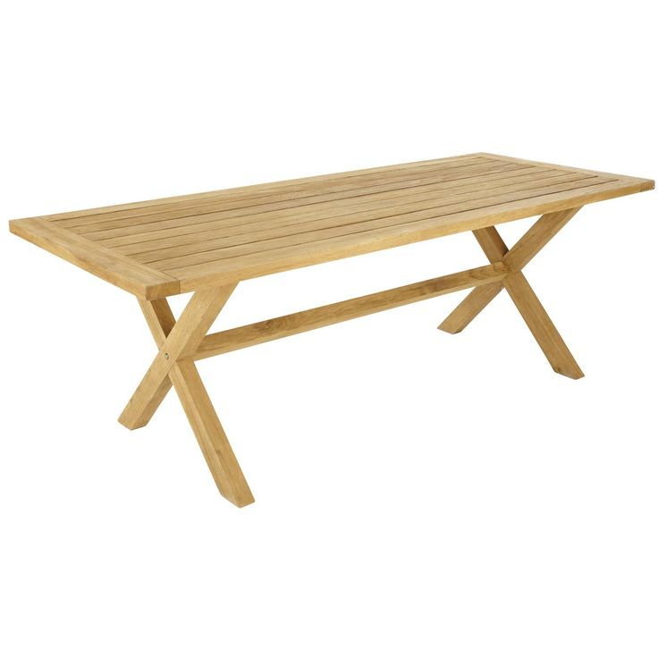 Mesa para jardín rectangular de teca 220 GUERNESEY. 699€