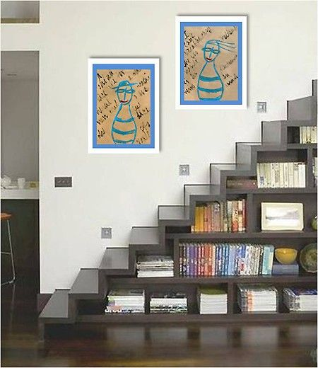 the etsy seller is trying to sell the artwork - but look at how awesome that staircase is! *wheels turning*