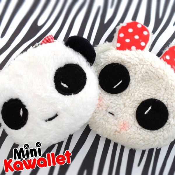 The best place to keep your loose change! The Mini Kawallets are lovely purses that you should always carry with you. Tender and kawaii, they're made of soft plush, with cotton lining and handmade pendant.  Find it on www.Delicute.com