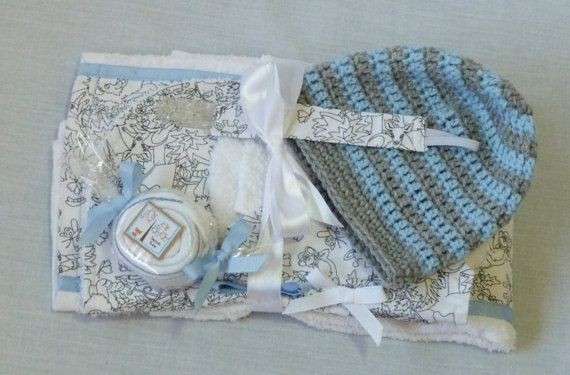 Baby Shower Bib & Burp Cloth Sets by DapperBubs on Etsy