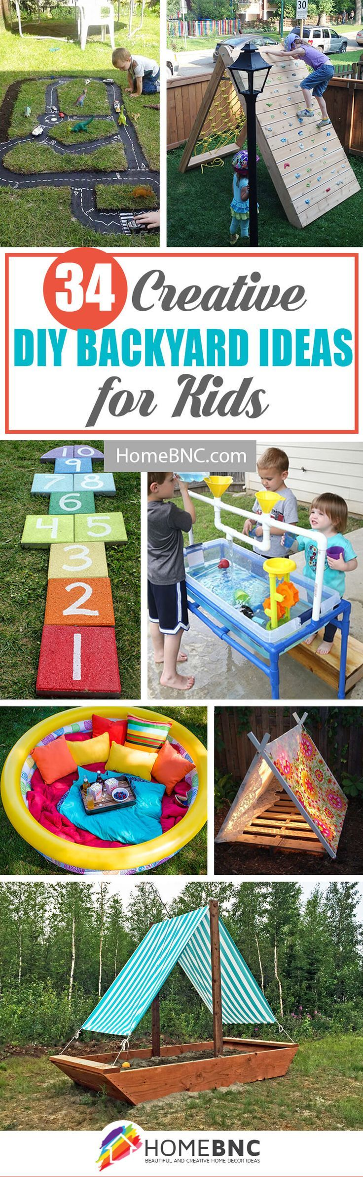 34 fantastic DIY backyard ideas for kids that are easy to create