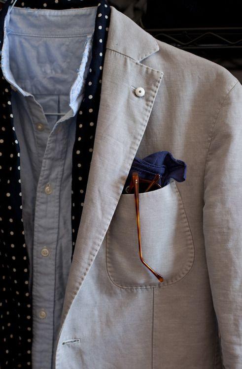 l.b.m. blazer drakes scarf uniqlo shirt bandana dom vetro shades