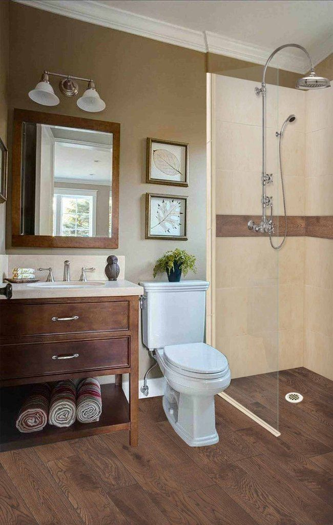 Burnt Oak Zero Thershold 60 Alcove Lifeproof Flooring Wood Collection Shower Kits In 2020 Warm Bathroom Small Bathroom Bathroom Renovations