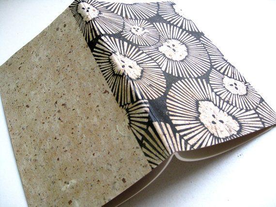 PAPIER JOURNAL  couverture de chrysanthème  bloc par magprint